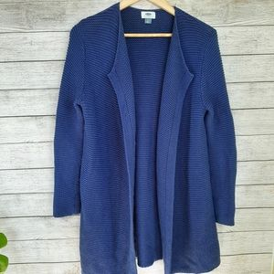 Old Navy blue Knit Open Cardigan Long